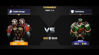 Real Steel Champions | TOURNAMENT | Twin Cities VS Brute NEW ROBOTS GAME (Живая Сталь)
