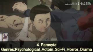 Top 10 Psychological anime