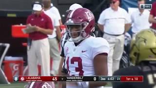 Tua Tagovailoa Amazing Touchdown Pass vs Vanderbilt!!! 2017 (HD)