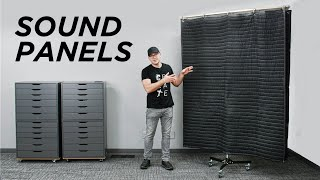 GIANT DIY Sound Panels For Better Audio and Lighting!