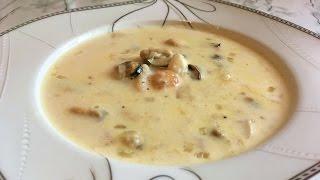 Молочный Суп с Морепродуктами(Очень Вкусно)/Milk Soup With Seafood Recipe/Простой Рецепт