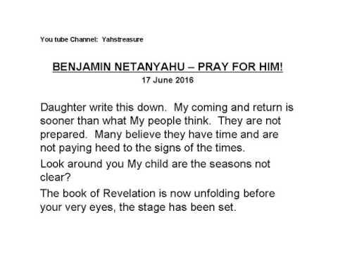 Benjamin Netanyahu - Pray for Him !