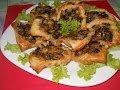 Тарталетки из слоеного теста с грибами. Рецепт