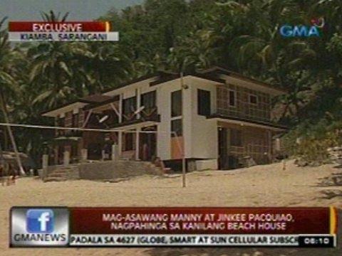 24 Oras: Mag-asawang Manny at Jinkee   Pacquiao, nagpahinga sa kanilang beach house