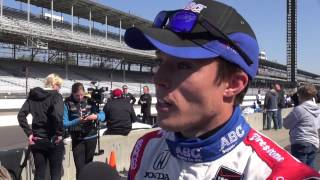 video WWRD TV Springfield Ohio interview with Martin Plowman at 2014 Indy 500 Pole Day just before qualifying. Reporter Maury Williams.