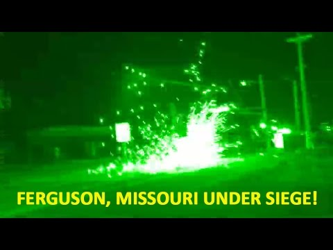 Police Firing On Protesters, MARTIAL LAW in Ferguson, Missouri 8-13-14
