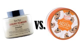Ben Nye VS Airspun setting powder! Luxury VS Drugstore