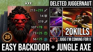 How to Ez Backdoor + Jungle in New Patch with Max Ultra Immortal Set Vs Jugg 20Kills - DotA 2