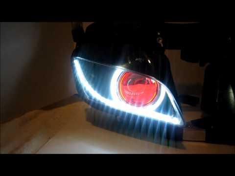 #3 Honda CBR 600RR Projector Headlights BiXenon hid Angel / demon Eyes Halos By BKmoto