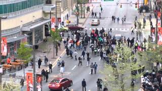 Saturday Night Baltimore Protesters Become Violent Outside Orioles Stadium