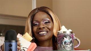 KFC APPLE PIE WITH BANANA LATTE ASMR EATING SOUNDS