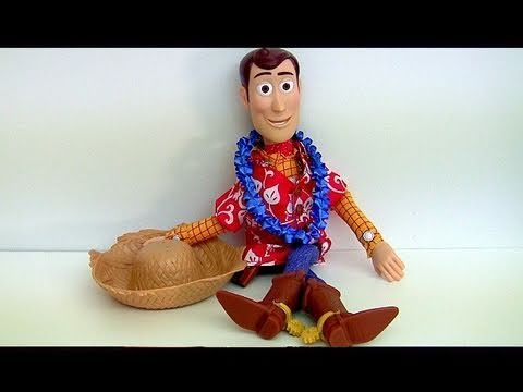 Sheriff Woody Hawaiian Vacation Action Figure from Toy Story Toons Disney Pixar Blucollection