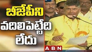 బీజేపీని వదిలిపెట్టేది లేదు | CM Chandrababu Naidu speech at TDP Mahanadu