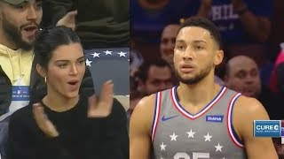 Kendall Jenner IMPRESSED By Ben Simmons & Boos Tristan Thompson! Sixers vs Cavaliers