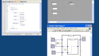 Labview tutorial for C programmers #3 - If-then-else, switch statements