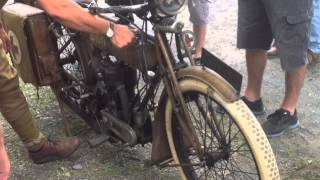 Rare Old Motorcycle 1917  triumph (model H)