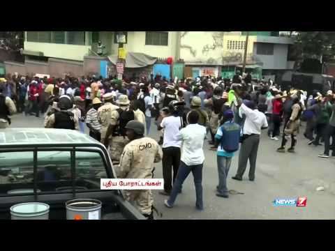 Haitian protesters march to demand lower gasoline prices