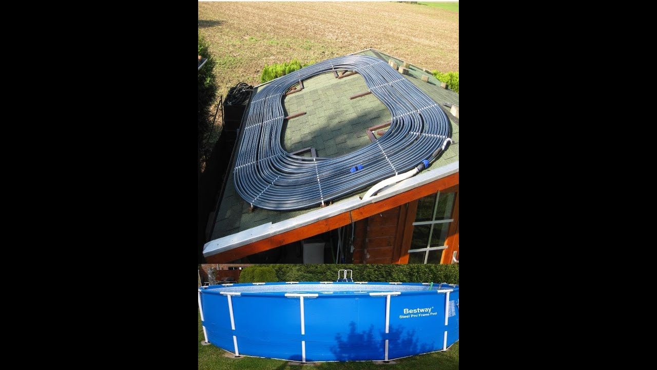 poolheizung selber bauen solar youtube. Black Bedroom Furniture Sets. Home Design Ideas