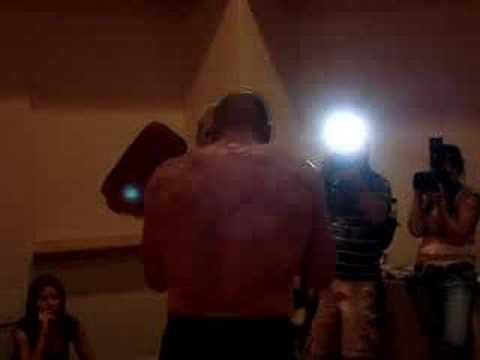 Randy Couture Pre-UFC 74 Training by MMAMadness.com Image 1