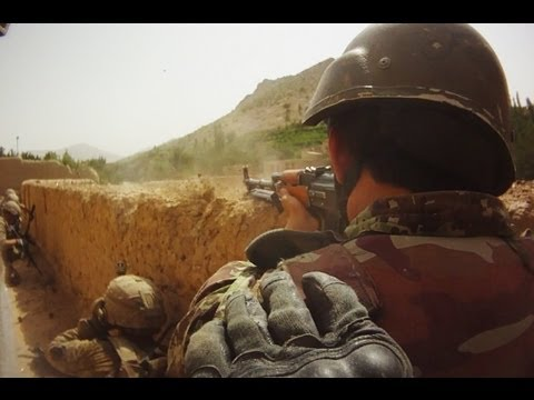 FIREFIGHT ON HELMET CAM IN AFGHANISTAN - PART 2