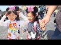 ●普段遊び●HIMAWARI三姉妹ディズニーではしゃぐ♡噴水広場で水遊び☆まーちゃん【6歳】おーちゃん【4歳】#631