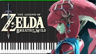 Mipha's Theme - The Legend of Zelda: Breath of the Wild [Piano Tutorial] (Synthesia) // DS Music