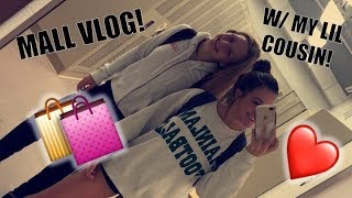 CLUMSY MALL VLOG:) ft. My little cousin