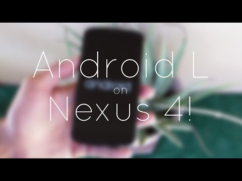 Android L on Nexus 4 (Overview)!