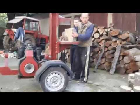 Cepac za drva na dizel motor BLAGOJA, spaccalegna, holzspalter, log splitter on diesel engine