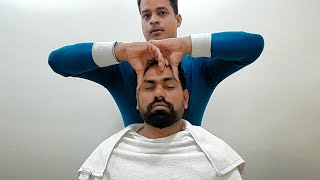 Asmr best ever head massage with neck crack by Rijvan.