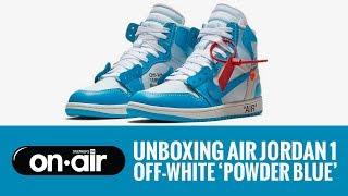 "SBROnAIR Vol. 76 - Unboxing Air Jordan 1 X OFF-WHITE ""Powder Blue"" #piranomeuair"