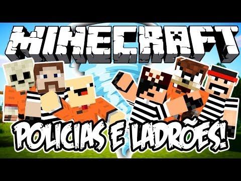 POLICIAS E LADR ÕES c/ TORNADOS! - Minecraft