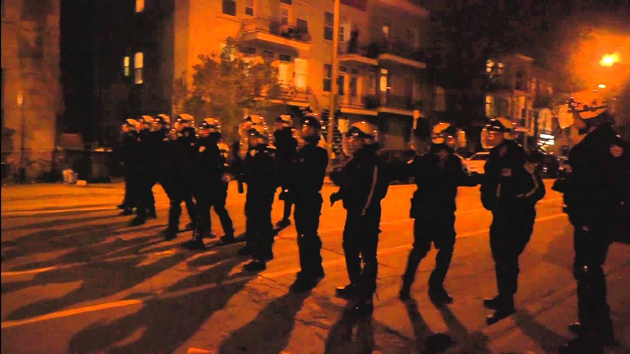 SPVM unlawfull arrest  Manif de soir Sunday May 6th