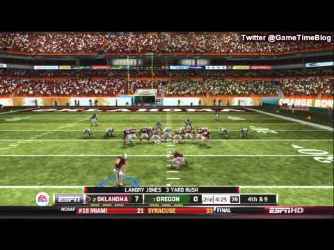 NCAA Football 13 Gameplay: Oregon vs. Oklahoma - BCS Title Game Highlights/Celebration