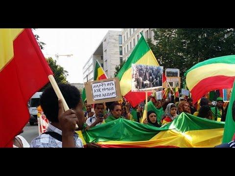 Ethiopians In Berlin (Germany) Staged Anti-EPRDF Demonstration
