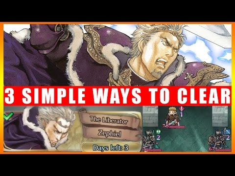 3 Simple Ways To Clear Lunatic - The Liberator Zephiel Special Map (Fire Emblem Heroes)
