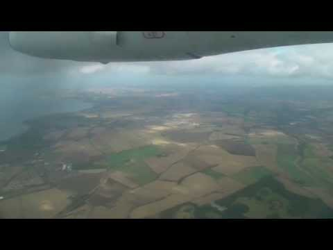 Dornier 328 Windy Approach and Landing into Edinburgh