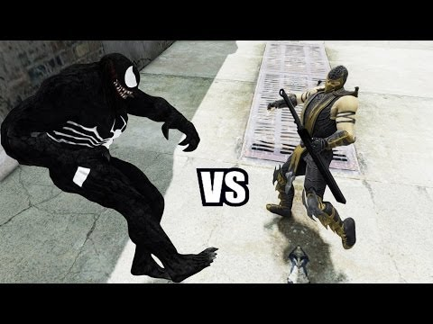 VENOM VS SCORPION (Mortal Kombat) - GREAT BATTLE - GTA IV
