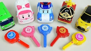 Robocar Poli car toys key cars Tobot CarBot Tayo bus play
