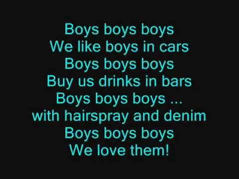 Lady Gaga - Boysboysboys [lyrics] video