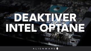 Deaktiver Intel Optane før du geninstallerer Windows 10 - Alienware