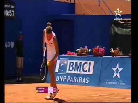 Lina Qostal, Moroccan Tennis player, 16 years old
