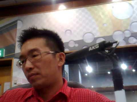 Chatting with Mr Nigel Green on Traxx FM, Wisma Radio Angkasapuri, Kuala Lumpur