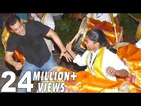 Salman Khan's CRAZY Dance On Nashik Dhol At Gapati Visarjan