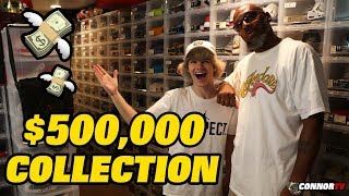 $500,000 Entire Sneaker Collection Largest Air Jordan on YouTube