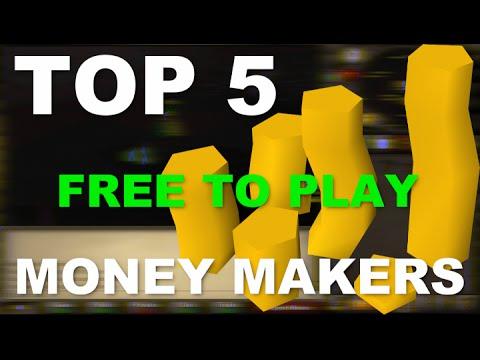 Old School Runescape Top 5 Best F2P Money Makers