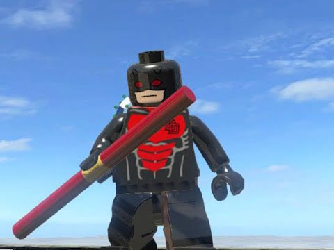 LEGO Marvel Superheroes - ARMORED DAREDEVIL FREE ROAM GAMEPLAY (MOD SHOWCASE)