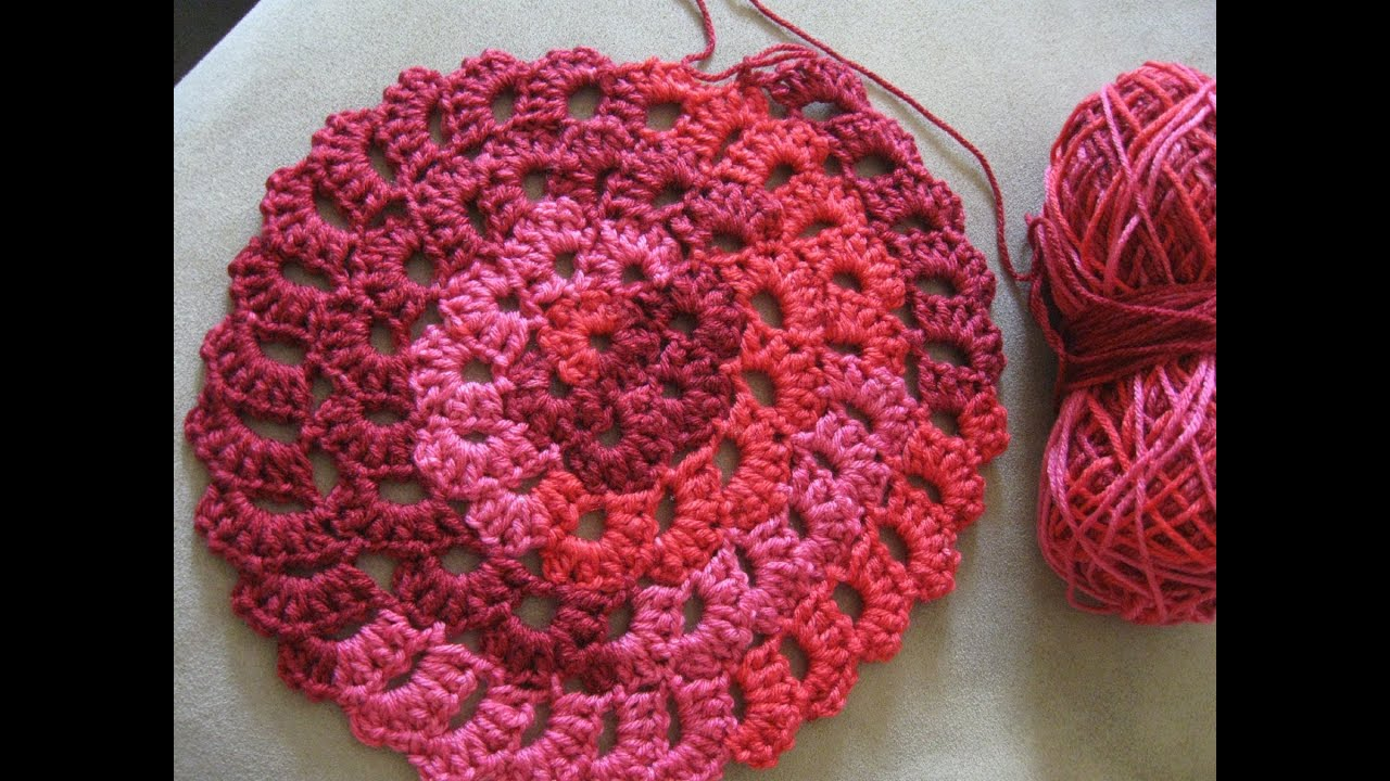 Flower Spiral Motif Pattern - Crochet Tutorial - YouTube