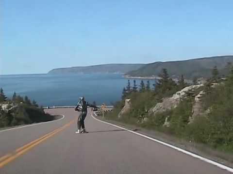Longboarding MacKenzie Mountain, Cape Breton, Nova Scotia