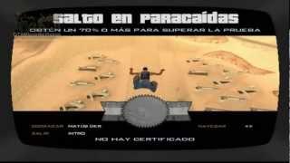 GTA San Andreas Escuela De Aviones #10 - Salto En Paracaidas
